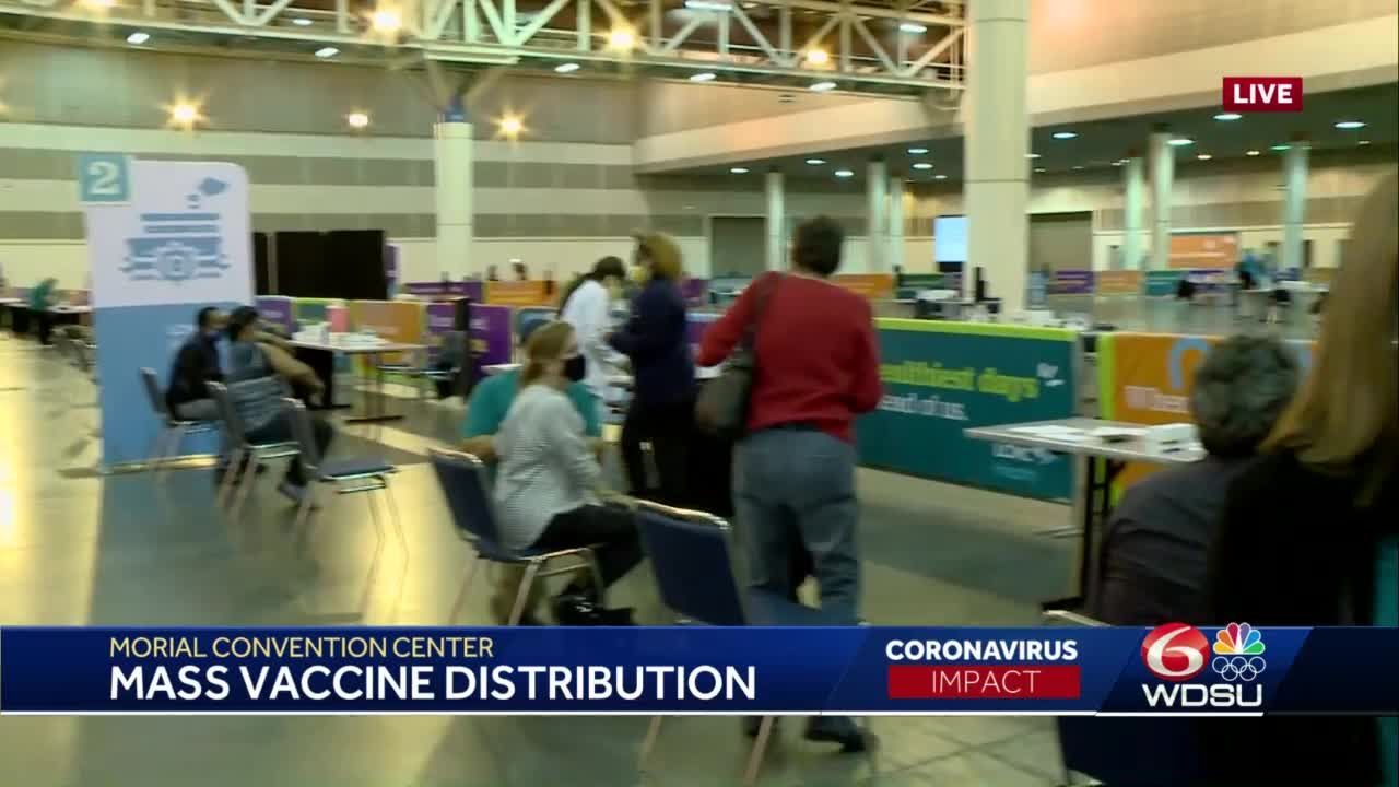 Hundreds receive J&J COVID-19 vaccine at Morial Convention Center mass vaccination event