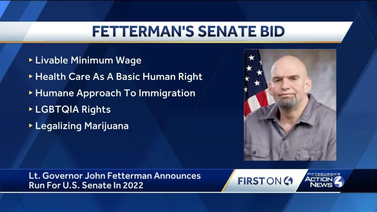 Lt. Governor John Fetterman Announces Run For U.S. Senate in 2022