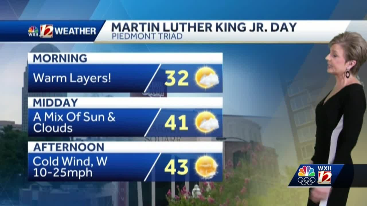 WATCH: MLK Jr. Day will be cold and windy