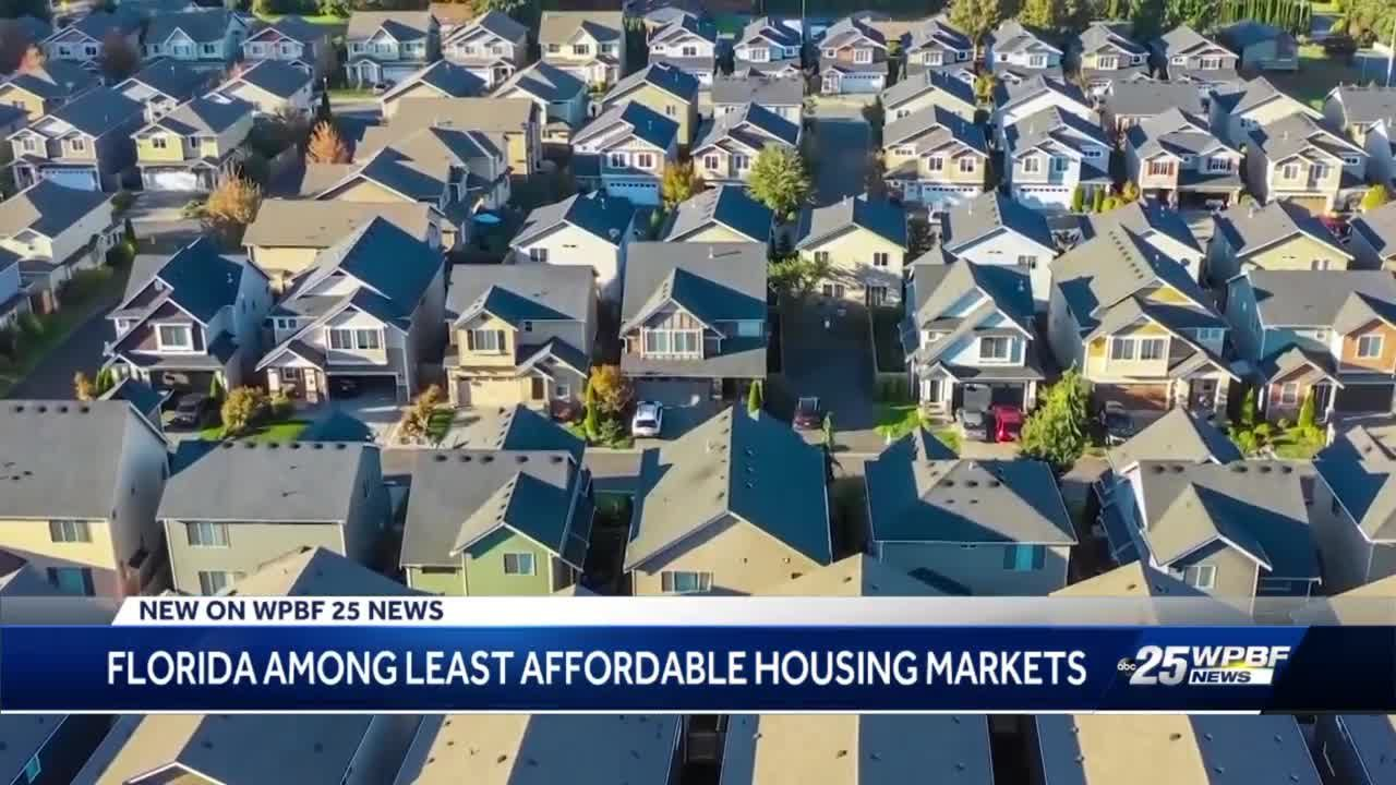 Florida among least affordable housing markets