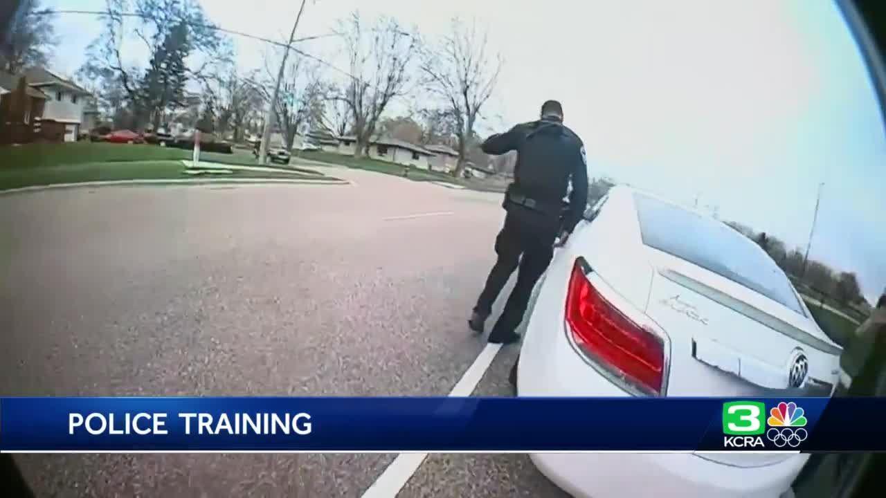 How does an officer use a gun instead of a stun gun?