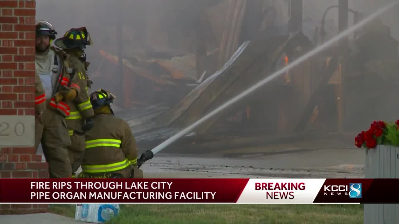 Fire rips through Lake City pipe organ manufacturing facility