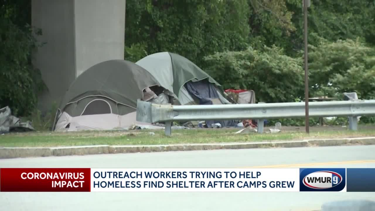 Workers try to encourage homeless residents to stay in shelters
