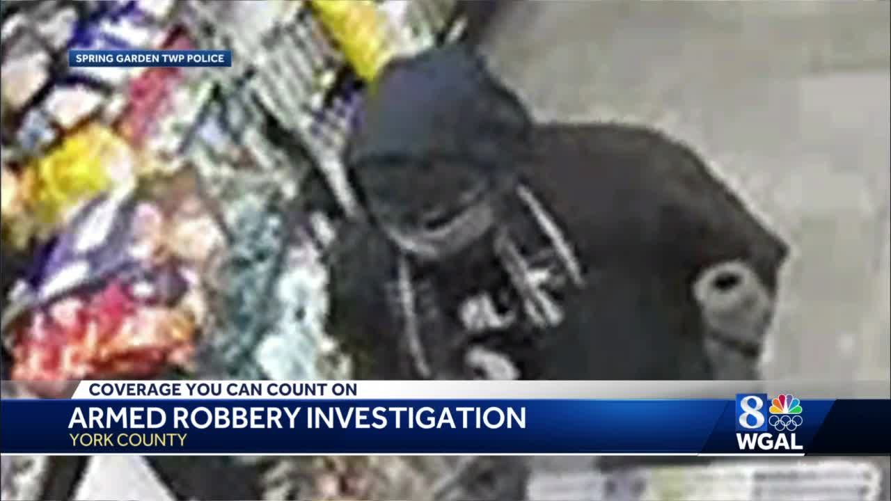 Police in York search for armed robber