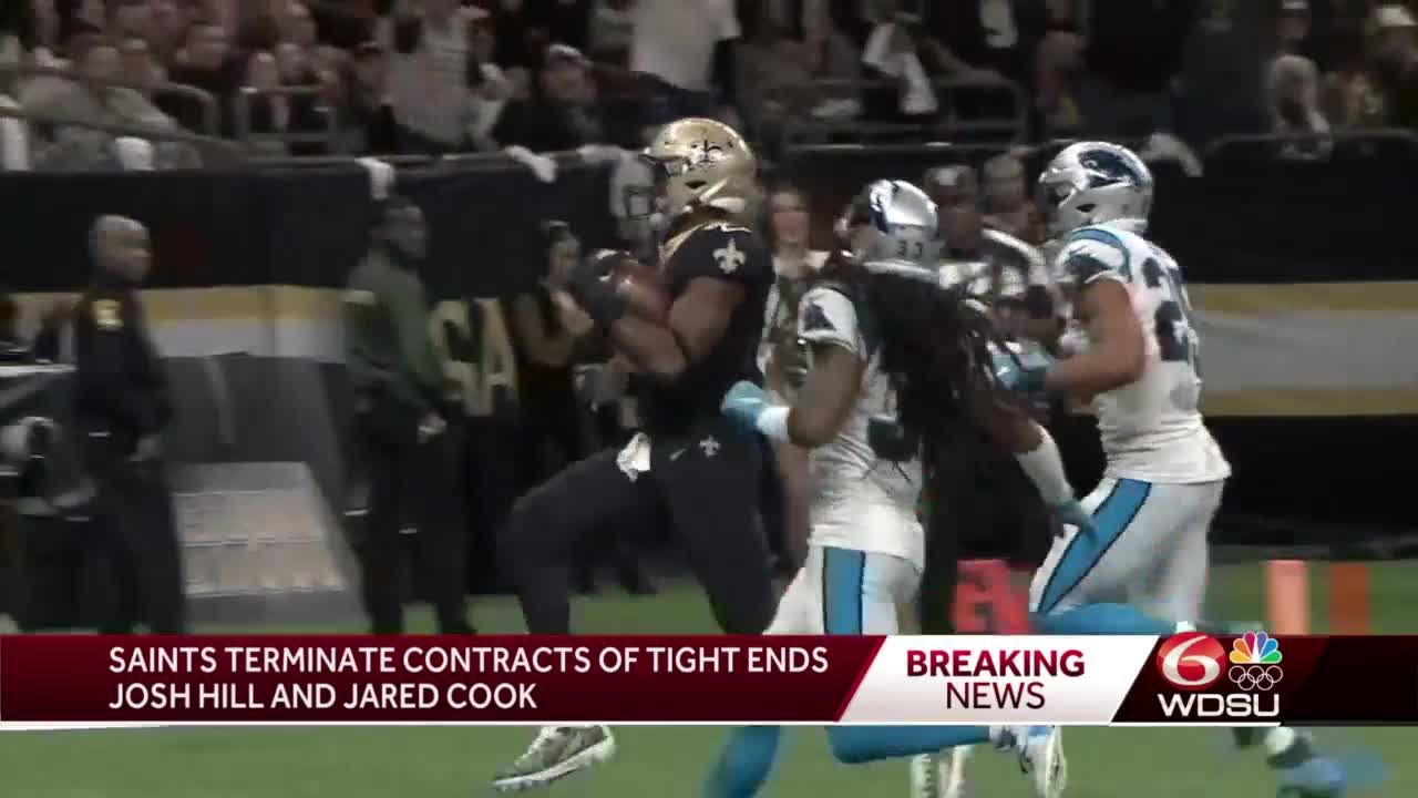 New Orleans Saints terminate contracts of tight ends Josh Hill and Jared Cook