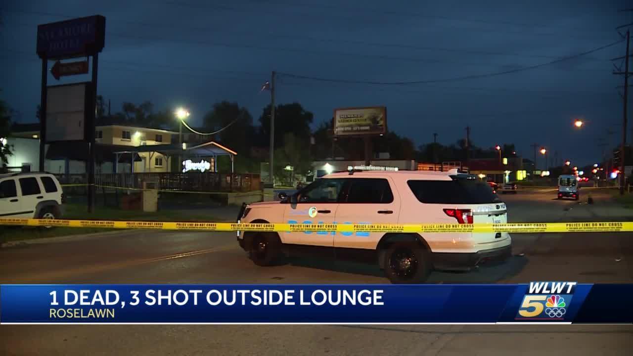 1 dead, 3 shot outside lounge