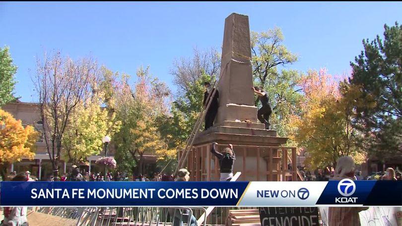 Activists Tear Down Controversial Santa Fe Monument