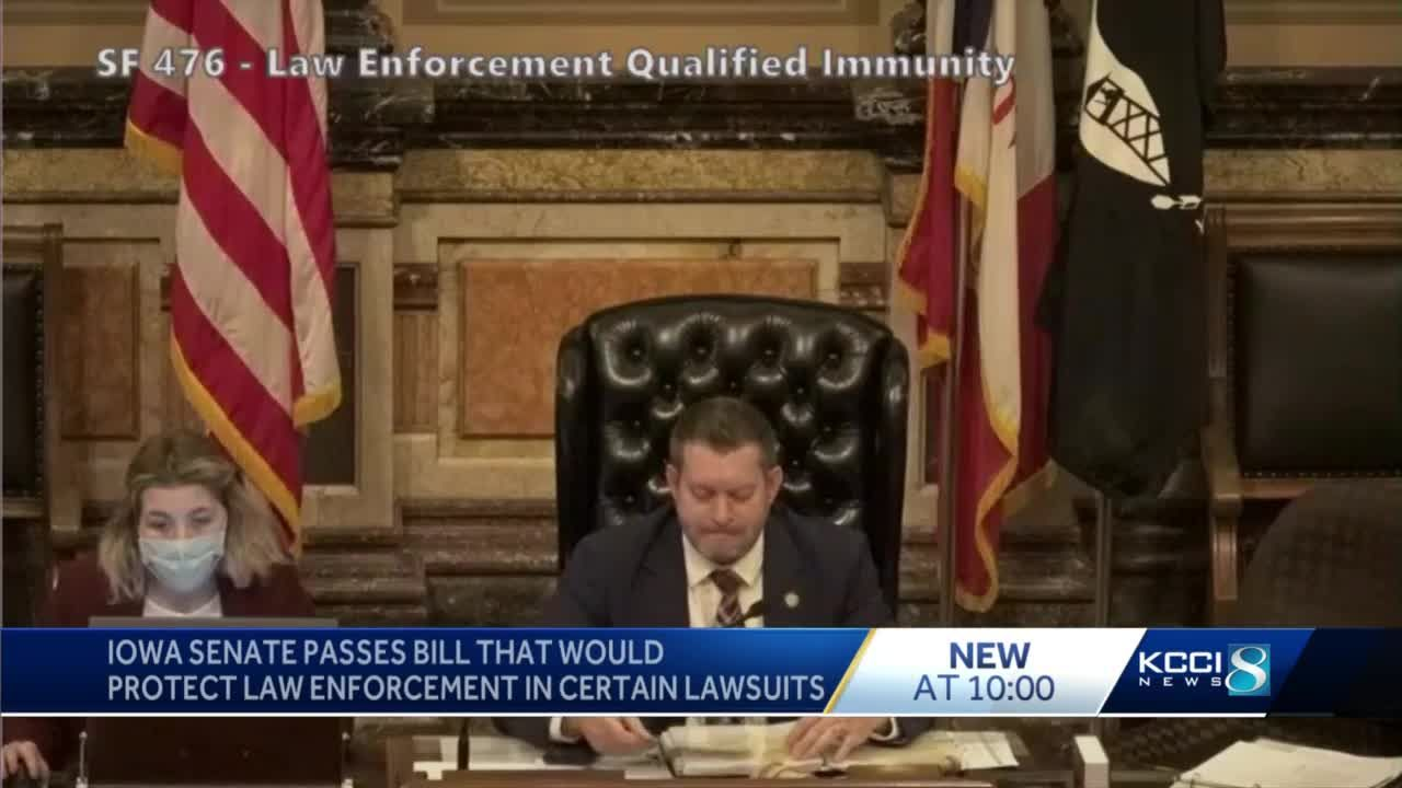 Iowa Senate advances bill strengthening qualified immunity for law enforcement