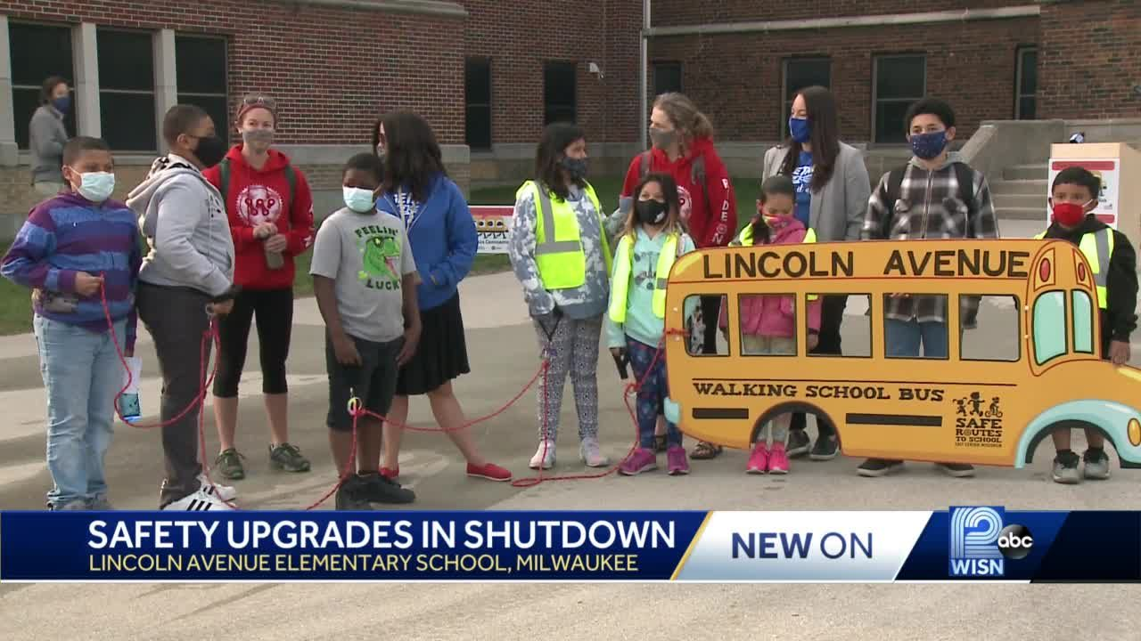 City uses shutdown to make it safer for kids to get to school