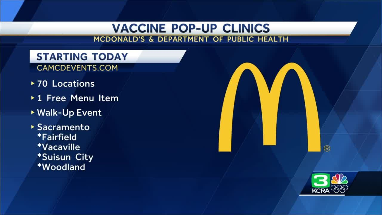 Californians can get COVID-19 vaccines at select McDonald's locations