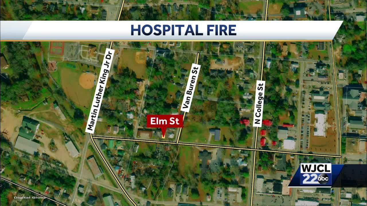 Crews respond to fire at historic hospital in Statesboro