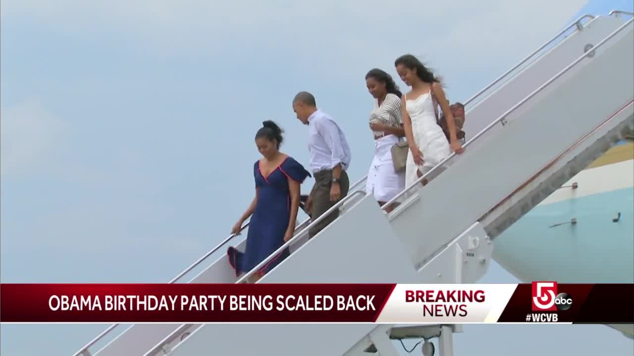 Obama 'significantly scales back' Vineyard 60th birthday bash