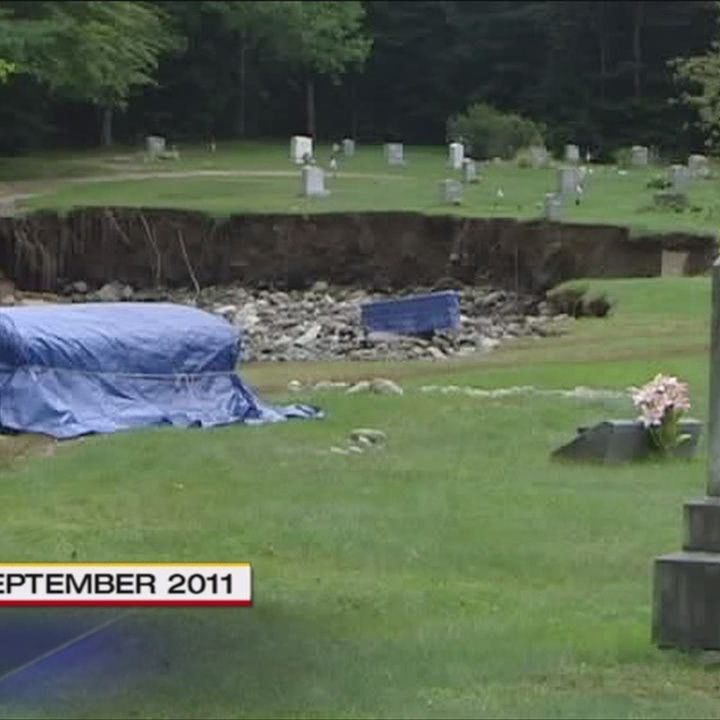 Video: Flooded-out Vt  cemetery re-buries its dead