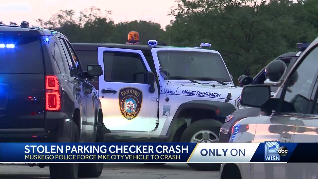 Driver steals Milwaukee parking enforcement vehicle, led police on chase in Muskego