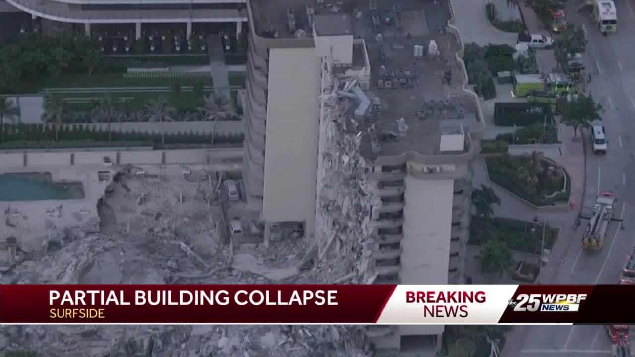 Miami residential building collapse kills one person, traps others under rubble