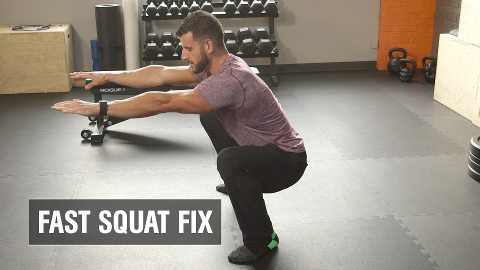 """The Fastest Way to Get Your """"Ass to Grass"""" during a Squat"""