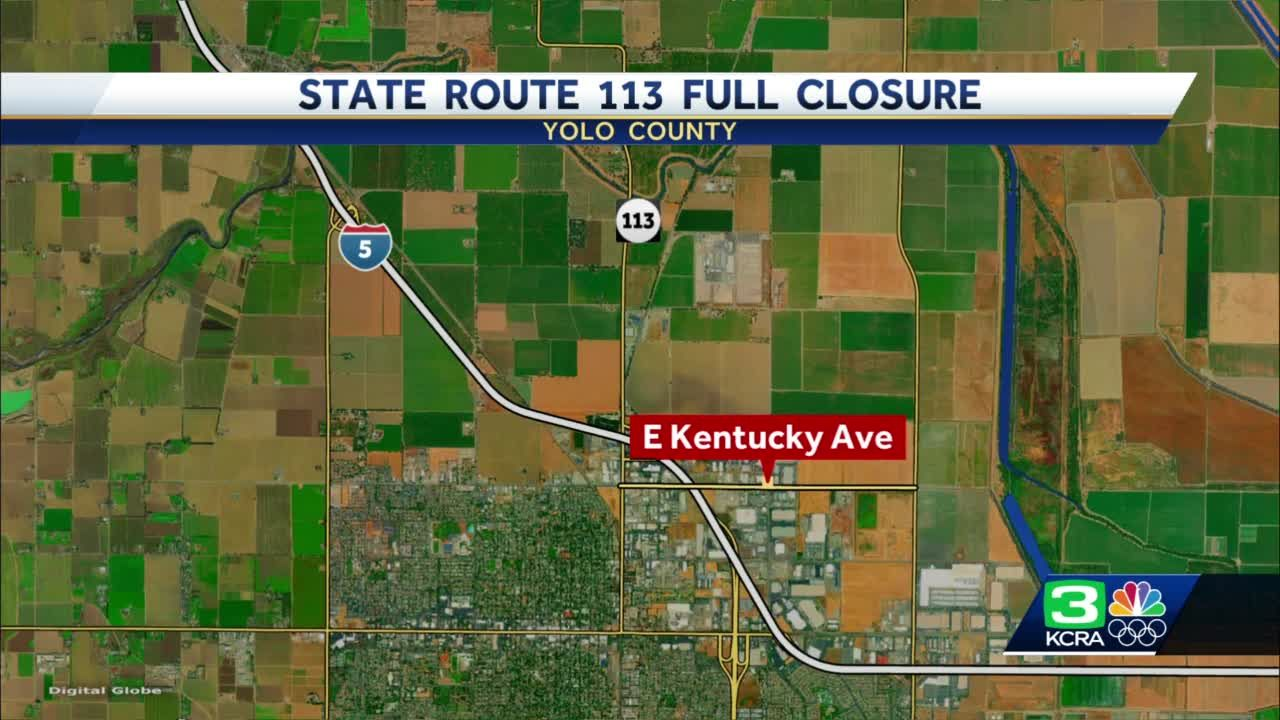 Full closure of northbound State Route 113 to Interstate 5 in Yolo County begins Monday