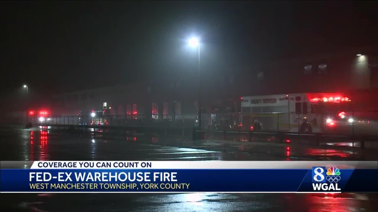 FedEx warehouse fire in York