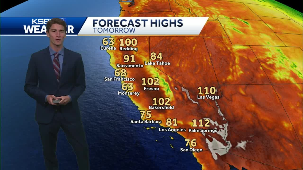 Cooler Temps Along the Coast, Some Smoke and Haze in the Valley
