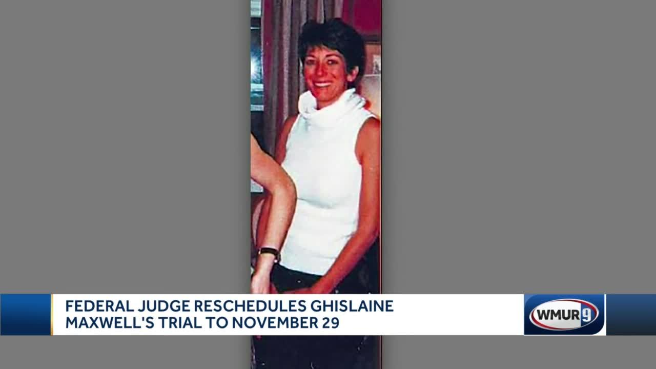 Federal judge reschedules Ghislaine Maxwell's trial to November 29