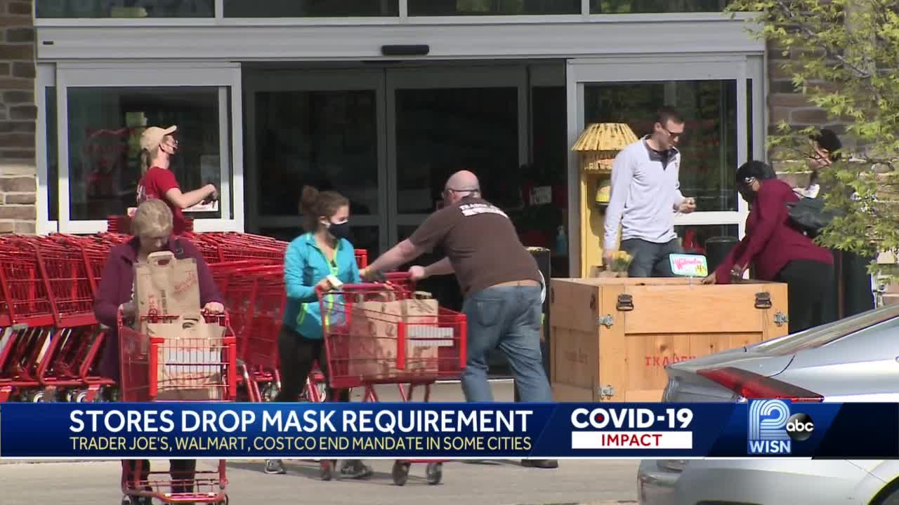 Stores drop mask requirements, shoppers react