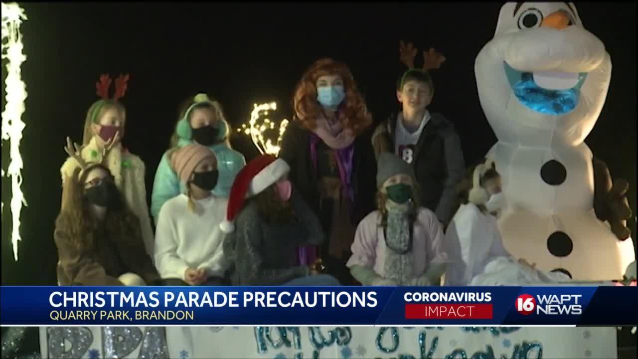 Brandon holds socially distanced Christmas parade