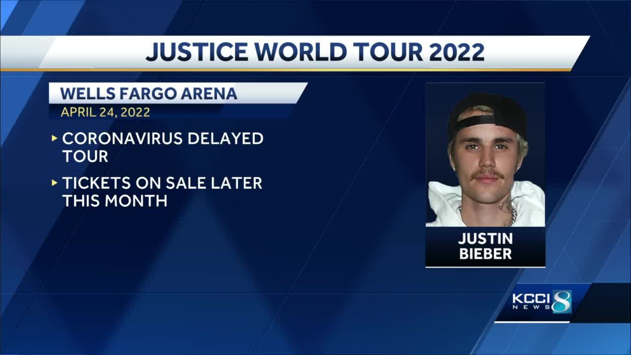 Justin Bieber to bring world tour to Des Moines in 2022