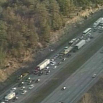 Raw video: Traffic at standstill on northbound I-65