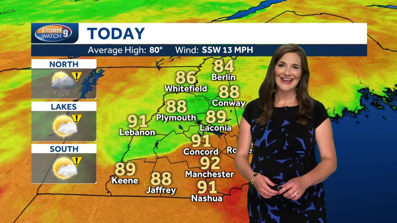 Watch: Hot, humid day with risk of storms