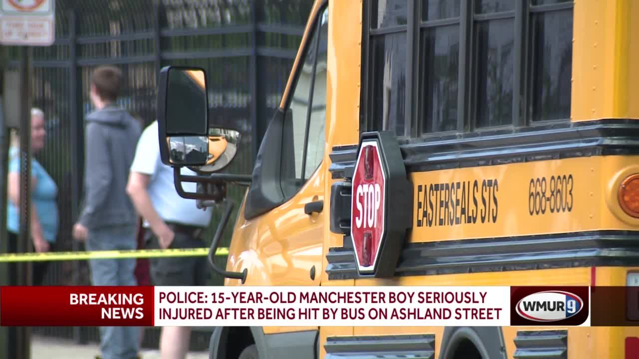 15-year-old Manchester boy seriously injured after being hit by bus on Ashland Street