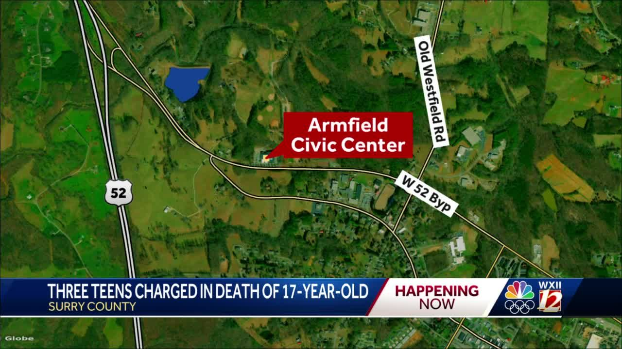 Surry County deputies charge three teenagers with first-degree murder in death of 17-year-old near high school