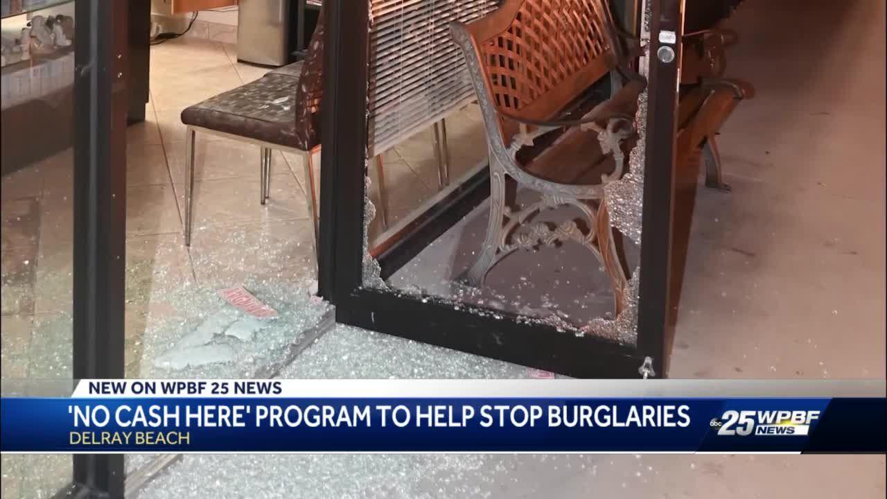 'No Cash Here' program to help stop burglaries