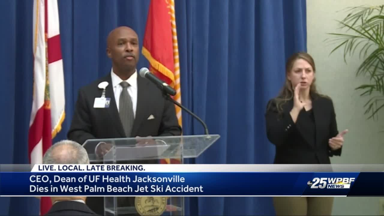 UF Health Jacksonville CEO dies following jet ski accident in Palm Beach County