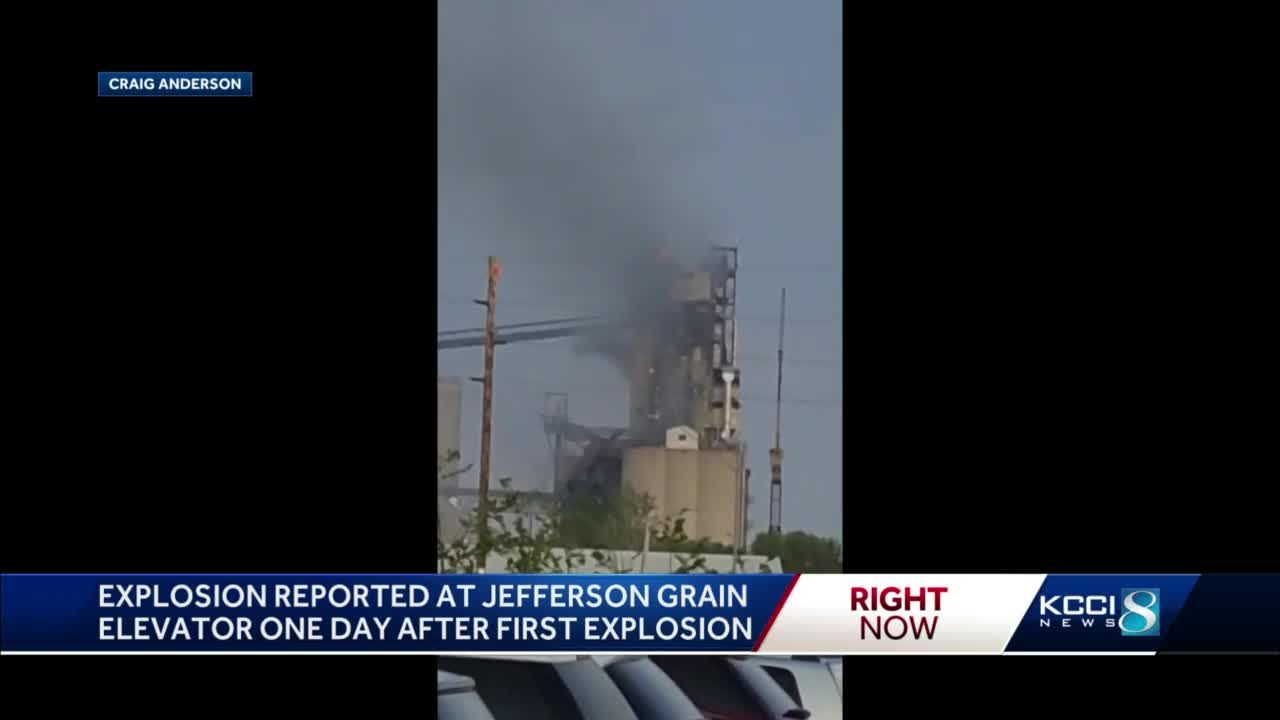Police report second explosion at Jefferson grain elevator