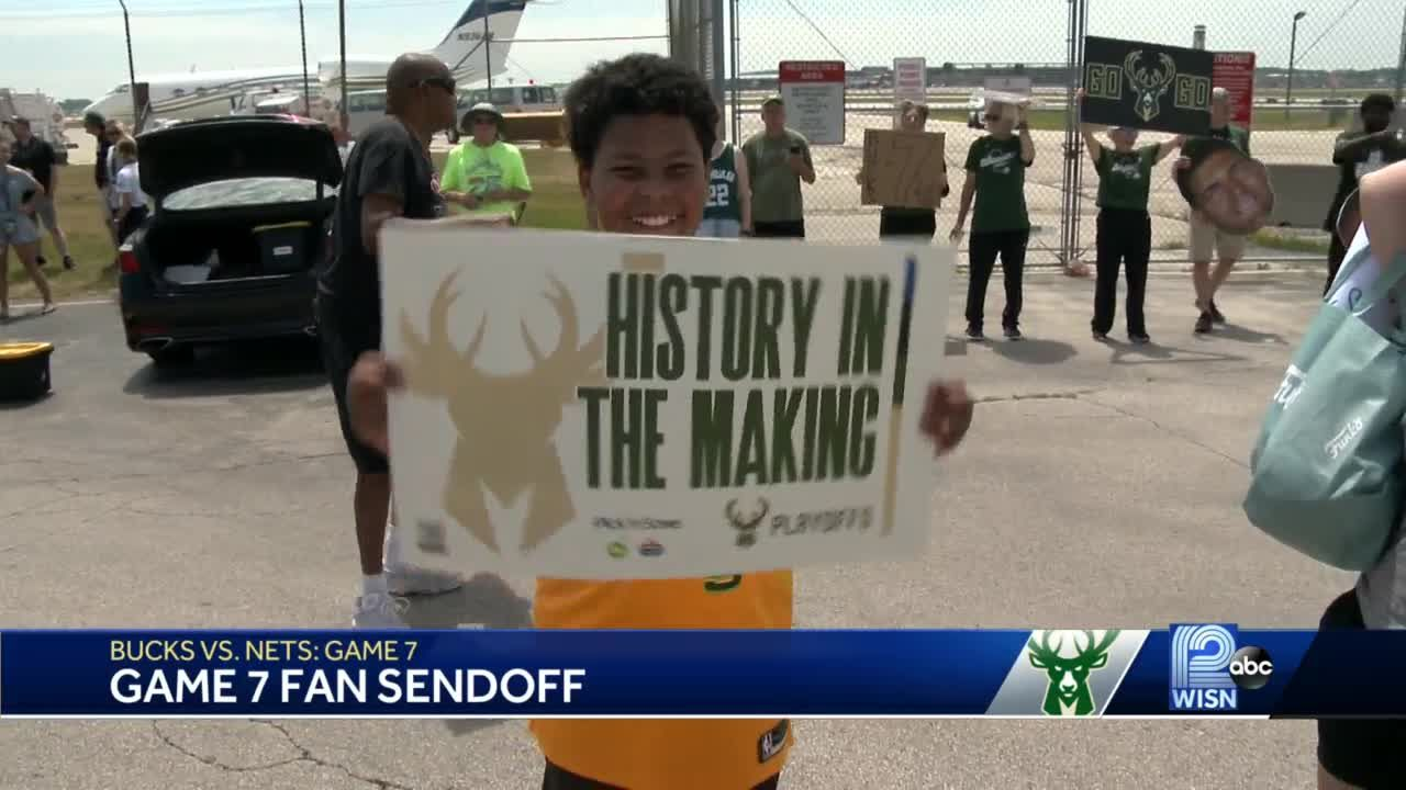 Bucks fans show up to send team off to Brooklyn for Game 7