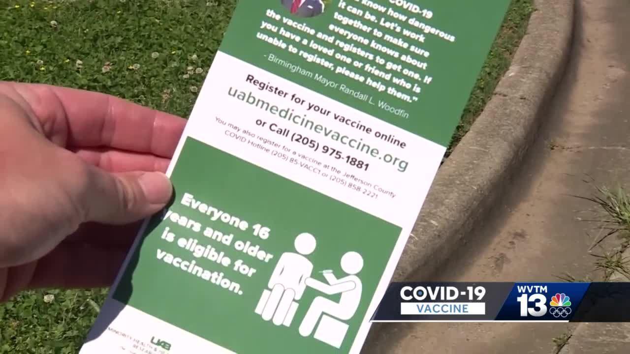 Canvassing Birmingham neighborhoods to promote vaccine awareness