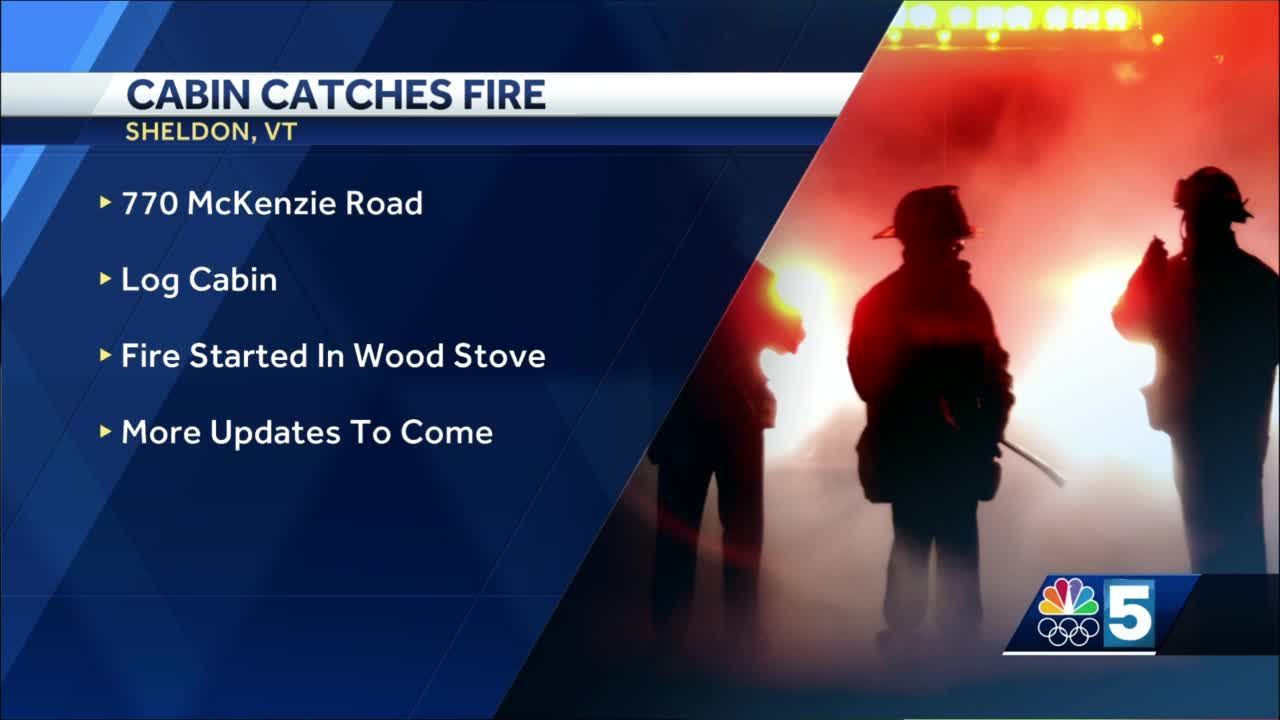 Crews respond to fire at a log cabin camp in Fairfield