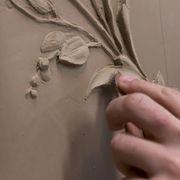 Hand, Leaf, Plaster, Finger, Relief,