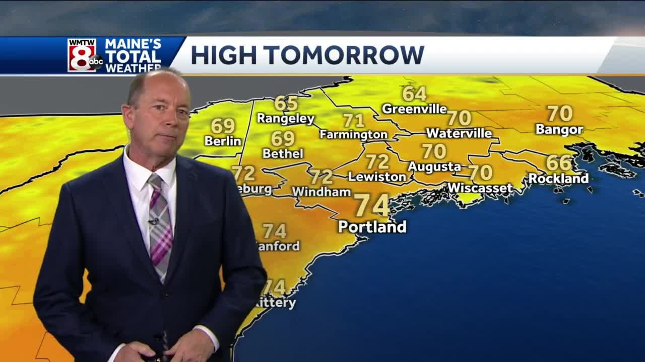 Warmest day of the week will be Friday.