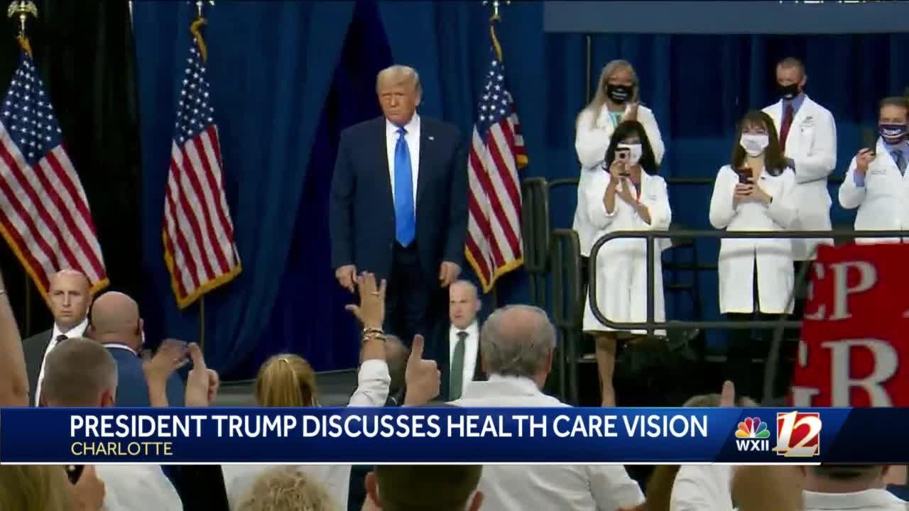 Charlotte hosts President Trump White House event on healthcare Thursday