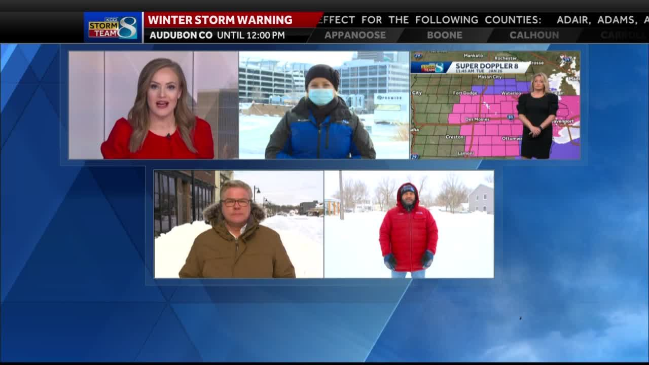 Team Coverage: Iowans digging out from record snowfall