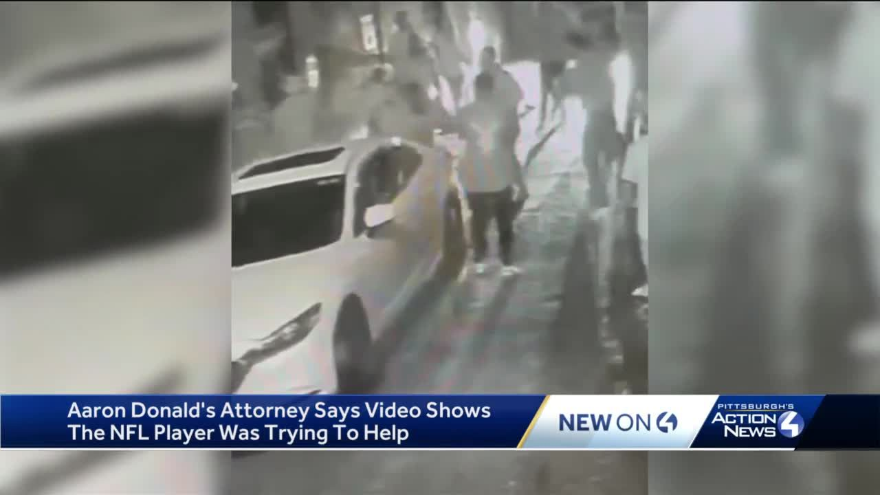 Aaron Donald's attorney says video shows NFL player was trying to help