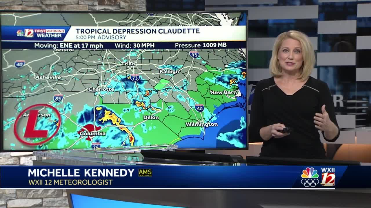 WATCH: Claudette Moves East Plus Heavy Rain & Storm Threat Tuesday!