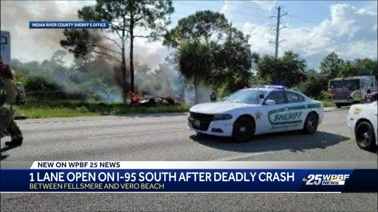 I-95 southbound reopened after crash, one person flown to local hospital