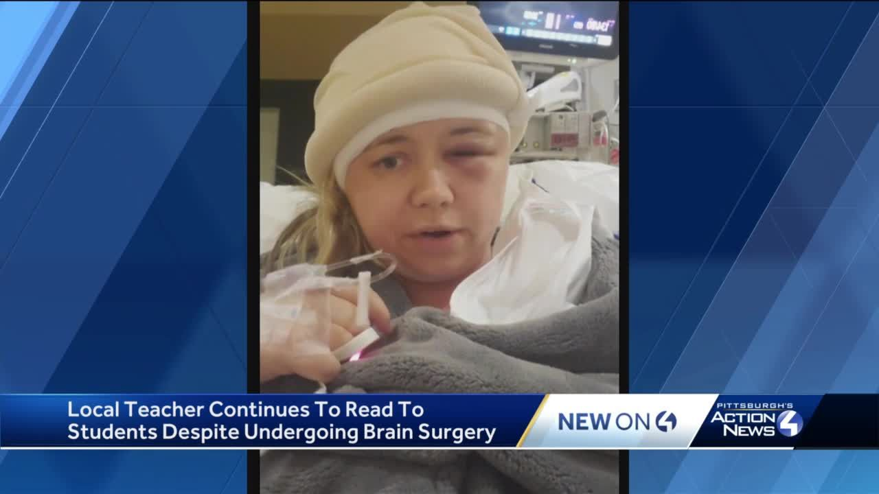 Bethel Park teacher reads bedtime story to students on Facebook live one day after undergoing brain surgery