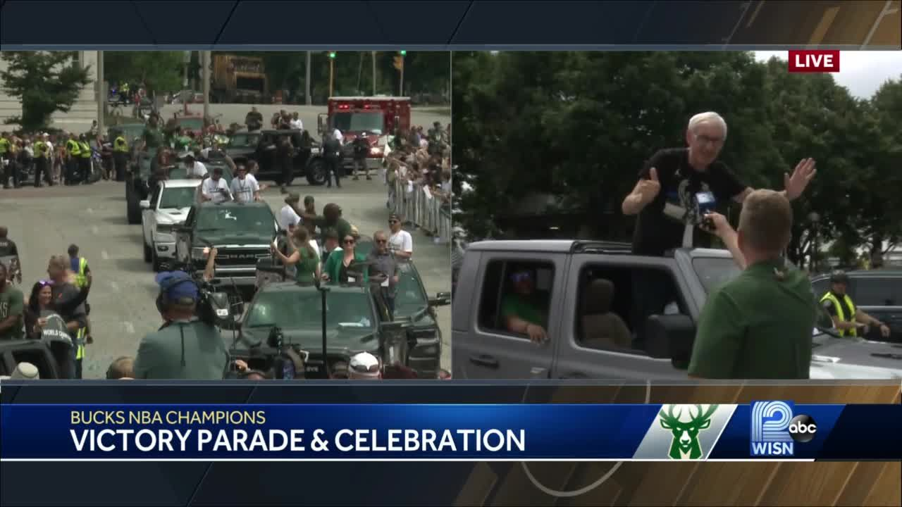 Milwaukee mayor, Wisconsin governor celebrate Bucks victory