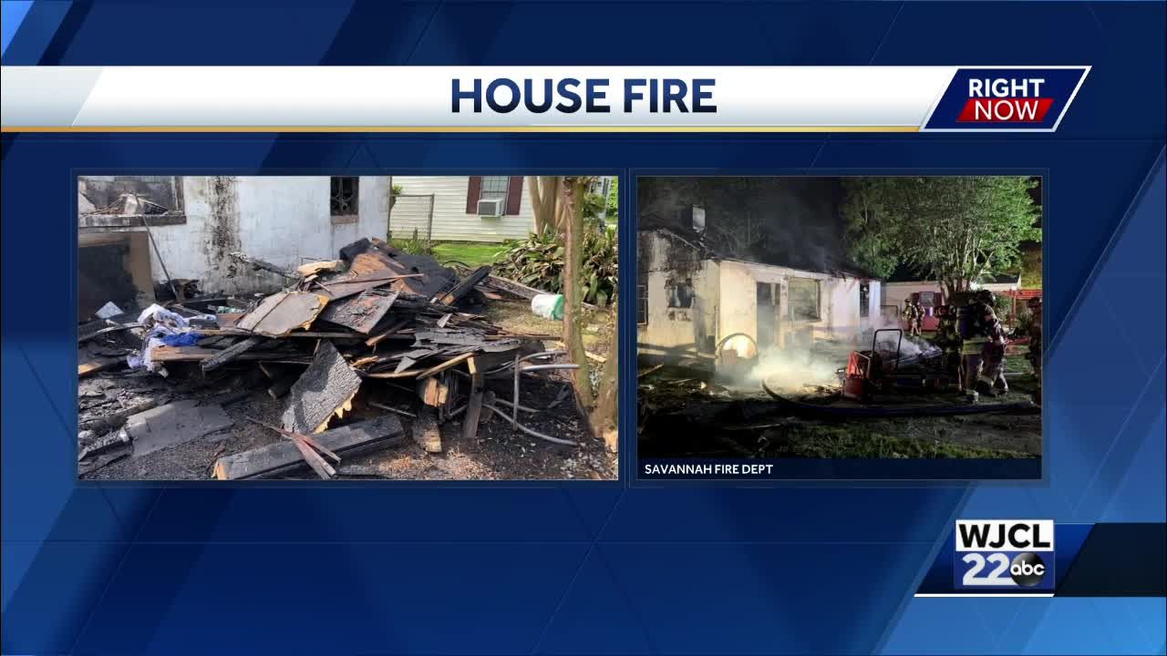 Savannah Firefighters respond to fire on Cubbedge Street