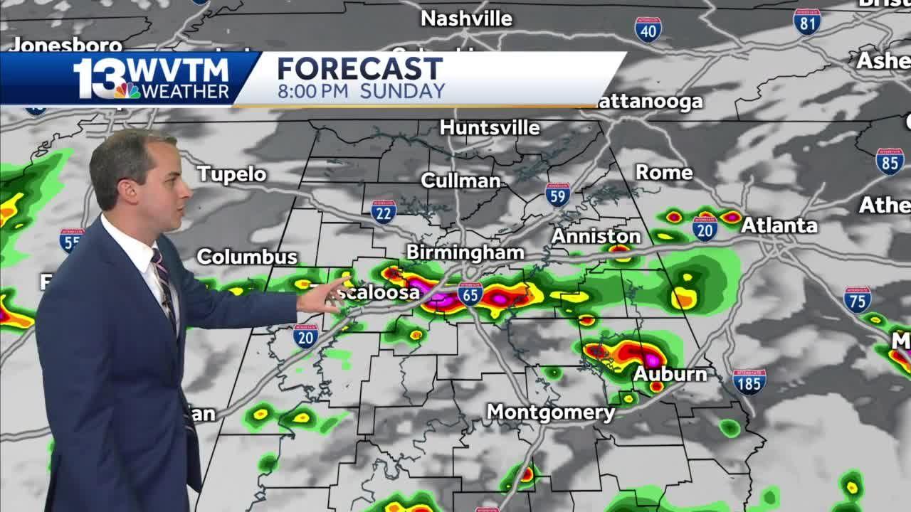 More storms around Sunday