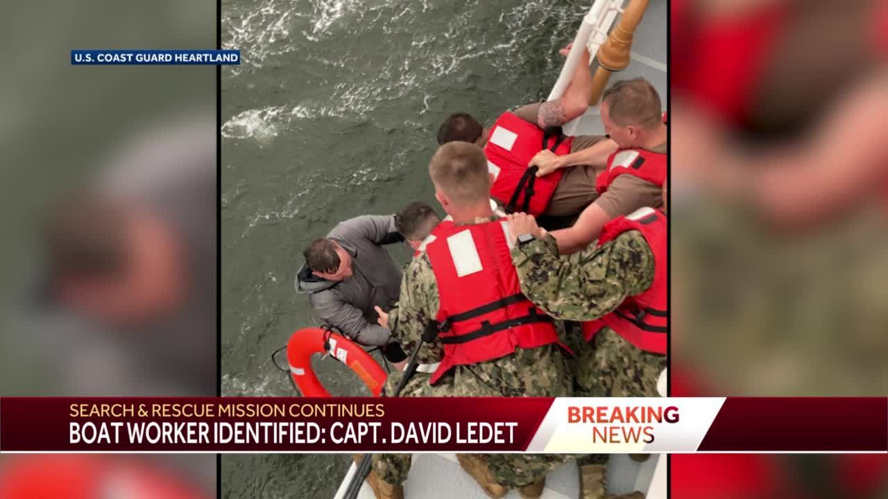 Coast Guard: Thermal imaging may have detected two people inside capsized boat