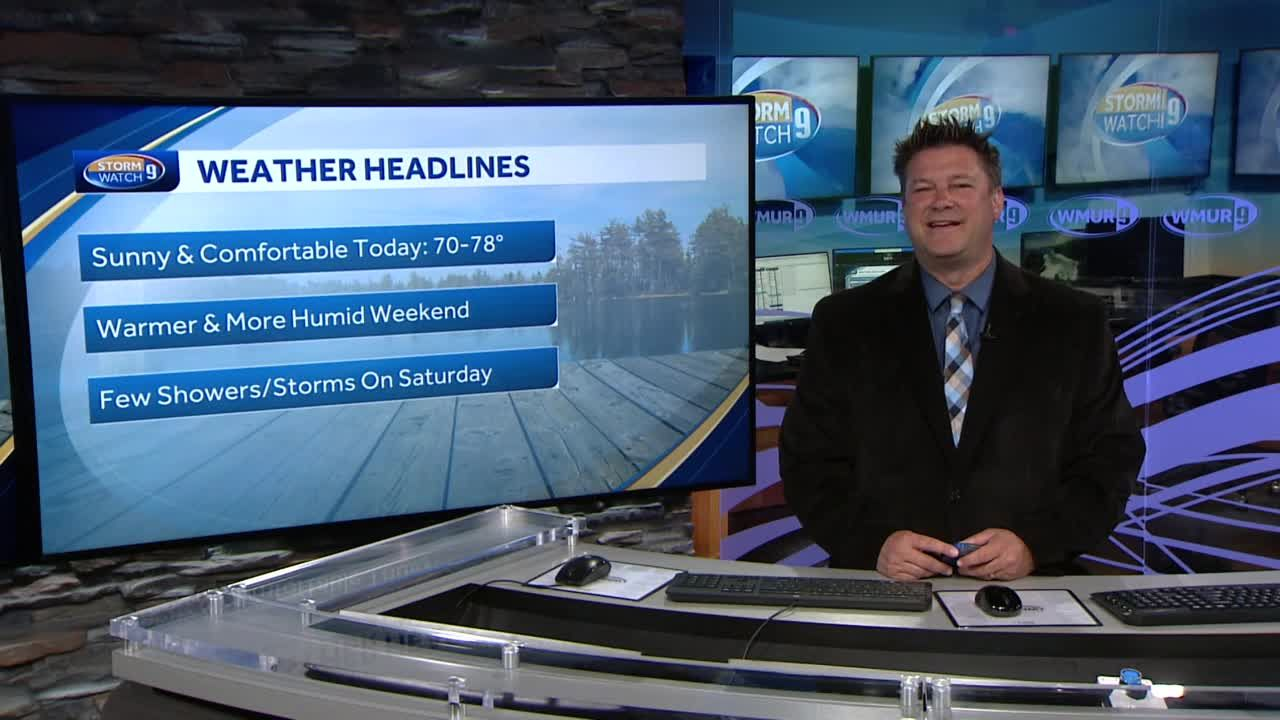 Watch: Sunny and comfortable conditions today